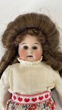 """Antique 13"""" Bisque Doll Leather Body"""