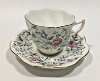 Vintage Bone China England Rosina Cup And Saucer