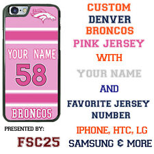 Denver Broncos Pink Football Jersey Phone Case Cover for iPhone Samsung etc.