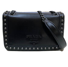 Prada Glace Calf Studded Chain Bag. Made In Italy.