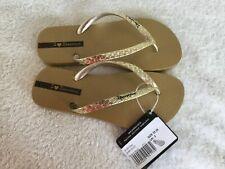 Ipanema Glam Gold Flip Flips - UK3