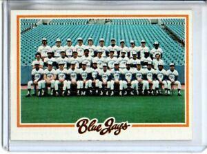 1978 TOPPS BLUE JAYS TEAM CARD (NM/MT)