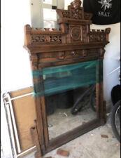 Massive Walnut Victorian Eastlake Aesthetic Period Mantle Mirror