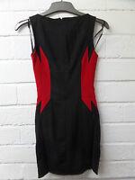 Womens Ladies New Black POW Lined Strech Bodycon Sleeveless Dress (Sizes 8-14)