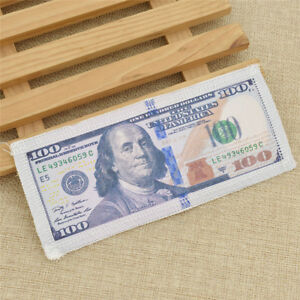 1pc One Hundred Dollar Bills Cash Money Applique Patch Sewing Embellishments