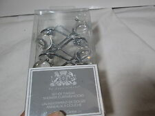 New B A By Appointment Set of Twelve Shower Curtain Hooks CRYSTAL GLOBE ~ Clear