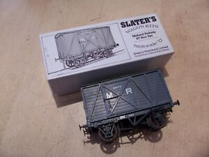 Vintage SLATERS O GAUGE Built Model Kit MIDLAND RAILWAY 8T BOX VAN Wagon MR