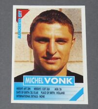 144 VONK NEDERLAND MANCHESTER CITIZENS PANINI FOOTBALL PREMIER LEAGUE 1995-1996