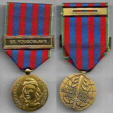 Médailles militaires françaises COMMEMORATIVE EX-YOUGOSLAVIE dans un état neuf