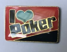I ❤️ POKER - lapel tie pin badge hat cap 5 stud