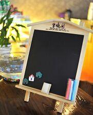 Wooden Blackboard Chalkboard Kids School Teaching Message Board 36*26CM