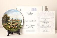 Colección & Placa decorativa selfmann 20cm B 5929 CABRAS U OVEJA EN EL dorfwiese
