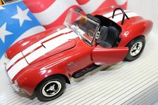 ERTL 1:18 Scale American Muscle SHELBY COBRA 427 S/C (RANGOON RED WHITE STRIPES)