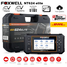 Foxwell NT624 Elite OBD2 Scanner Full System Diagnostic Tool SRS ABS Engine Oil