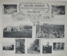 1908 CLOS DES JACOBINS ST EMILION BORDEAUX WINE WINERY FRENCH VITICULTURE FRANCE