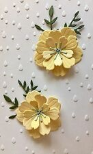 SOFT, PALE SHADES OF YELLOW. THESE BLOSSOMS WILL ADD DRAMA TO ANY PROJECT.