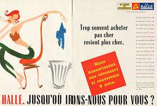 Publicité Advertising 1997 (Double page) LA HALLE aux vetements aux chaussures