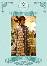 Vintage crochet pattern- how to make a retro elegant crochet lace jacket coat