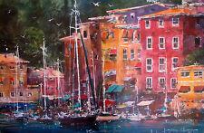 "JAMES COLEMAN ""PORTOFINO AFTERNOON"" Lithograph Art"