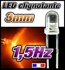 251CO# LED 3 mm Orange clignotante lot de 10  pcs