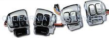 Kit Completo De Interruptores De Manillar Cromados Para Harley-Davidson®