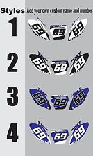 Number Plates Side Panels Graphics Decal for 2008 Yamaha YZ250f 450f