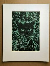 Not Every Witch Lives in Salem Wood Block Novelty Picture Shelf Sitter Black Cat