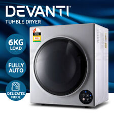 Devanti 6kg Tumble Dryer Fully Auto Wall Mount Kit Clothes Machine Vented Silver