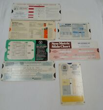 Lot of 4 Vintage Motor Control Selector Guides Slide Rule Charts 3) Other Charts