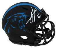 Julius Peppers Signed Panthers Eclipse Black Matte Riddell Speed Mini Helmet- SS