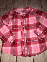 Baby Gap Factory 4T NEW Pink Red Valentine's Button Down Shirt