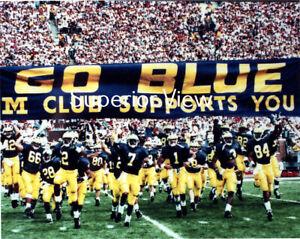 Michigan Football Go Blue Sign M Club Supports You U of M Football CLASSIC