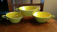 HARLEQUIN ~ Homer Laughlin ~ YELLOW Double Handled CREAM SOUP BOWL LOT 3