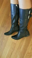 Fendi Black Leather Boots size 38 US 7.5 8 w/box