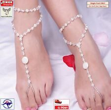 Barefoot Sandal Bridal Beach Pearl Anklet Chain Bracelet Foot Jewelry [A3W2~B25]