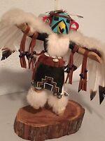 """Old Navajo Original Western U.S. Indian Carved Kachina Doll """"EAGLE"""""""