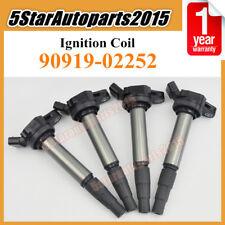 4x Ignition Coil 90919-02252 for Toyota Corolla Matrix Scion xD Lexus CT200h 1.8