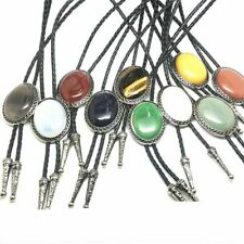 New Arrival Necklace Royal Rhinestone Bolo Tie Genuine Leather Drop Multi Colors