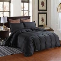 Black Stripe Quilt Duvet Cover with Pillow Case Bedding Set Full Queen King Size