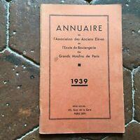 Annuario Associazione Delle Antichi Autoinchiostrante Di Scuola Panificio 1939