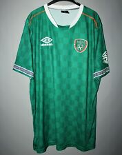 REPUBLIC OF IRELAND FOOTBALL SHIRT GREEN UMBRO SIZE XXL PRO TRAINING JERSEY