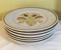 Americana Hearthside Dinner Plates Set Of 8 Stoneware Bountiful Pattern Japan
