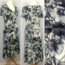 Per Una Floral Stretch Jersey Fit&Flare Midi Dress UK12R Holiday Summer M&S