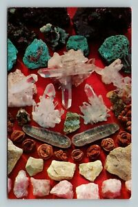 Mineral Specimens In Different Shapes And Colors, Chrome Arkansas Postcard