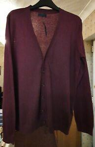 Asos Mens Cardigan Colour Burgundy Size Medium (Brand New)