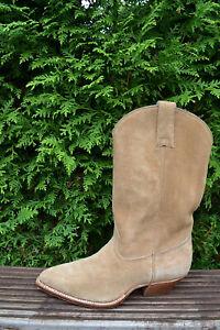 Don Quijote Gr.39,5 Cowboy Boots Handmade Westernstiefel Wildleder Vintage 6.5