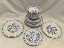 "Figgjo Norway Lotte China: Luncheon Plates 9 3/8"", Salad Plates 8"", Bowls 5 7/8"""