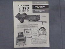 original 1958 Oliver No. 170 Manure Spreader sales Brochure Catalog Tractor