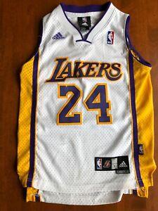 Kobe Bryant LA Lakers #24 White NBA Stitched Jersey Adidas • Youth Small