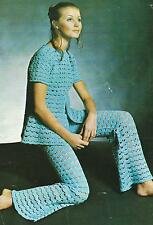 "Ladies Crochet Pattern Jacket and Trousers 34-38""     115"